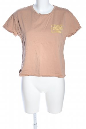 Zara Basic T-Shirt Blumenmuster Casual-Look