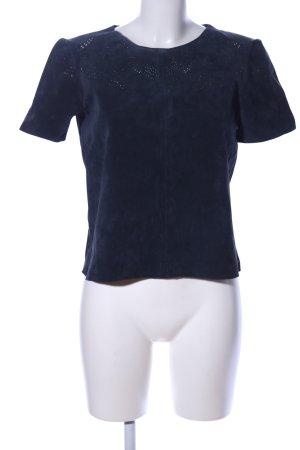 Zara Basic T-Shirt blau Elegant