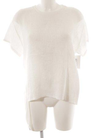 Zara Basic T-Shirt wollweiß Casual-Look
