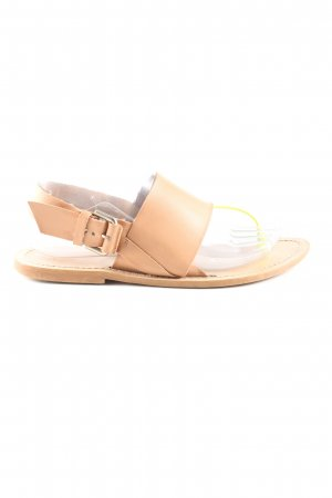 Zara Basic T-Strap Sandals nude-primrose casual look