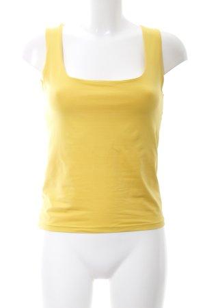Zara Basic Camiseta sin mangas amarillo pálido look casual