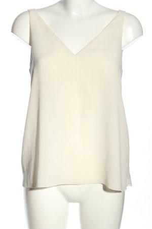 Zara Basic Camiseta sin mangas crema look casual