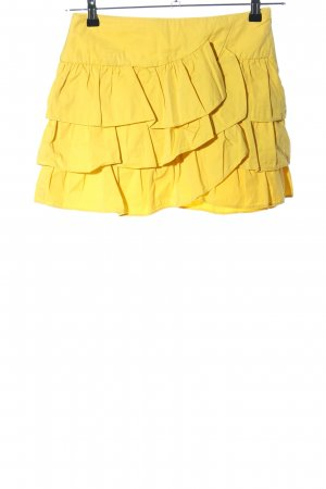 Zara Basic Gonna circolare giallo pallido stile casual