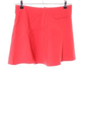 Zara Basic Circle Skirt red casual look