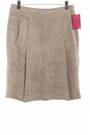 Zara Basic Tellerrock creme meliert Casual-Look