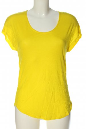 Zara Basic Top blassgelb Casual-Look