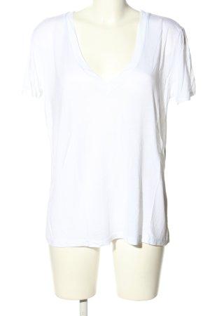 Zara Basic Top weiß Casual-Look