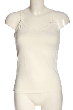 Zara Basic Top wollweiß Casual-Look