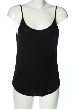 Zara Basic Top schwarz Casual-Look