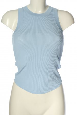 Zara Basic Top blau Streifenmuster Casual-Look