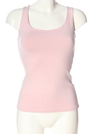 Zara Basic Top pink Streifenmuster Casual-Look