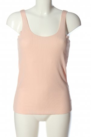 Zara Top basic crema punto treccia stile casual