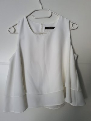 Zara Top básico blanco