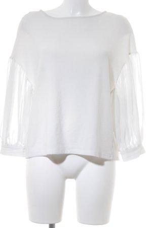 Zara Basic Top weiß-wollweiß