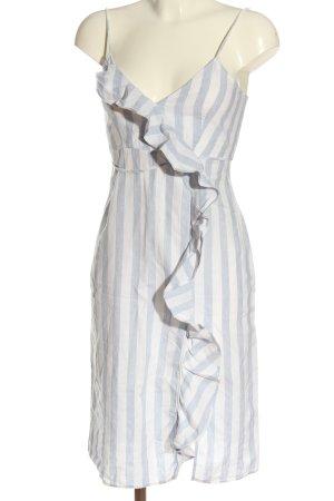 Zara Basic Trägerkleid weiß-blau Streifenmuster Casual-Look