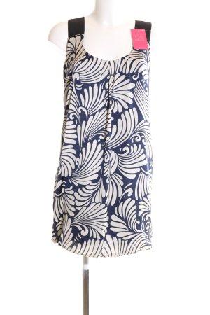 Zara Basic Trägerkleid weiß-blau abstraktes Muster Casual-Look