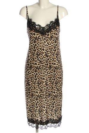 Zara Basic Trägerkleid schwarz-creme Allover-Druck Elegant