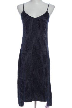 Zara Basic Trägerkleid blau-weiß Allover-Druck Casual-Look