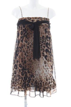 Zara Basic Trägerkleid Animalmuster extravaganter Stil