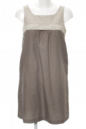 Zara Basic Trägerkleid braun-wollweiß Elegant