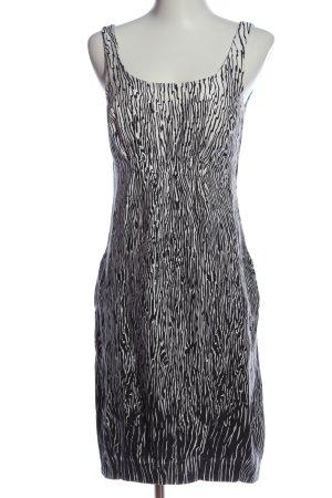 Zara Basic Trägerkleid schwarz-weiß Allover-Druck Elegant