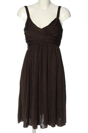 Zara Basic Trägerkleid braun Party-Look