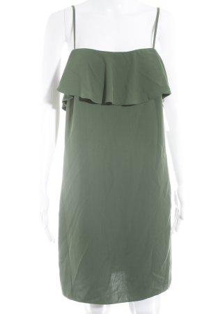 Zara Basic Trägerkleid grün