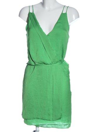 Zara Basic Trägerkleid grün Casual-Look