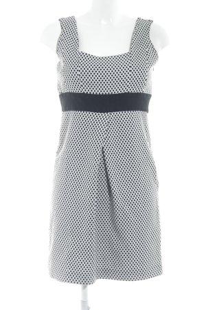Zara Basic Trägerkleid schwarz-weiß Punktemuster