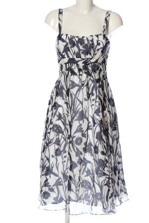Zara Basic Trägerkleid weiß-schwarz Blumenmuster Casual-Look