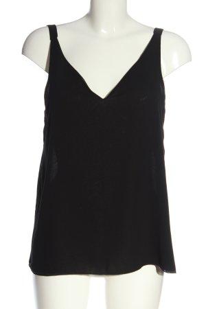 Zara Basic Trägertop schwarz schlichter Stil