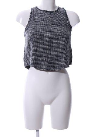 Zara Basic Trägertop schwarz-weiß meliert Casual-Look