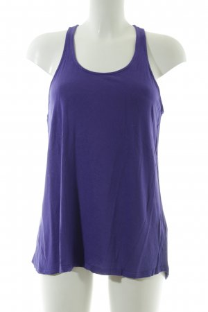 Zara Basic Trägertop lila Casual-Look