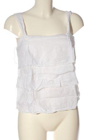 Zara Basic Trägertop weiß Casual-Look