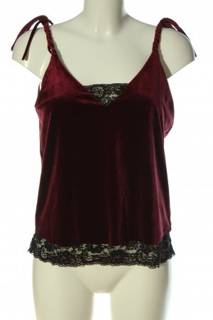 Zara Basic Canotta a bretelle rosso stile casual