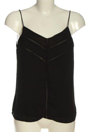 Zara Basic Trägertop schwarz Casual-Look