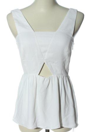 Zara Basic Trägertop weiß extravaganter Stil