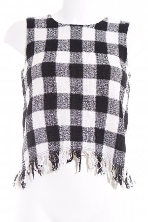 Zara Basic Trägertop schwarz-weiß Karomuster