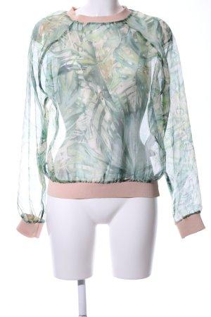 Zara Basic Transparenz-Bluse Allover-Druck Street-Fashion-Look