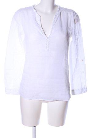 Zara Basic Transparenz-Bluse weiß Casual-Look