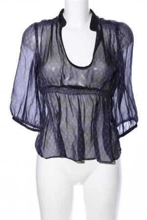 Zara Basic Transparenz-Bluse Allover-Druck Casual-Look