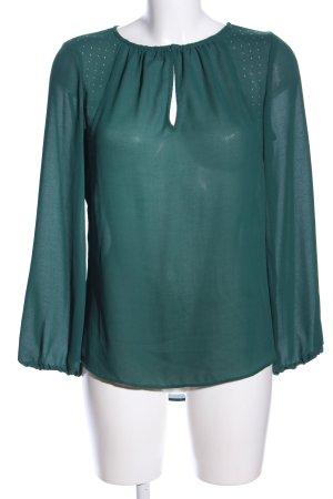 Zara Basic Transparenz-Bluse grün Casual-Look