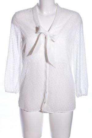 Zara Basic Transparenz-Bluse weiß Allover-Druck Casual-Look
