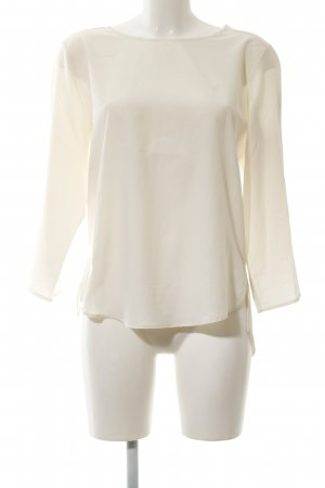 Zara Basic Transparenz-Bluse creme Business-Look