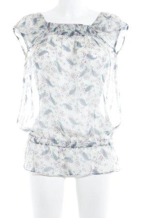 Zara Basic Transparenz-Bluse Paisleymuster Casual-Look
