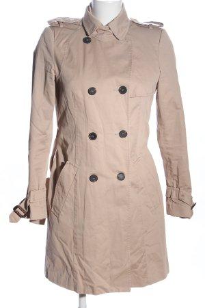 Zara Basic Trenchcoat wollweiß Casual-Look