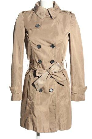 Zara Basic Trench Coat cream casual look
