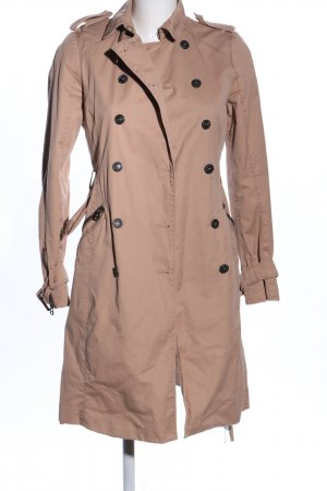 Zara Basic Trench Coat nude casual look