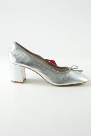 Zara Basic Loafers silver-colored business style