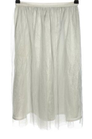 Zara Basic Falda de tul gris claro elegante